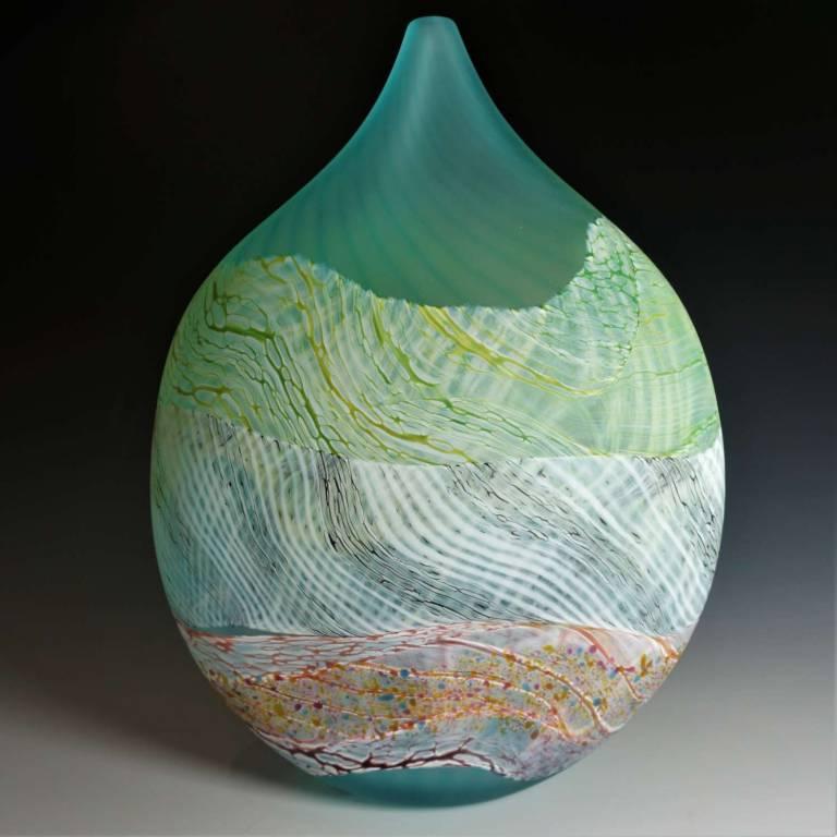 Medium Teardrop Vase Sea Shore Flint