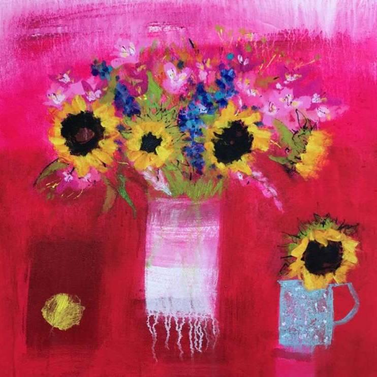 Caroline Bailey RSW - Sunflowers and Summer Nights