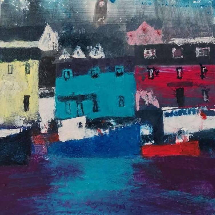 Caroline Bailey RSW - Blue Boat Stornoway