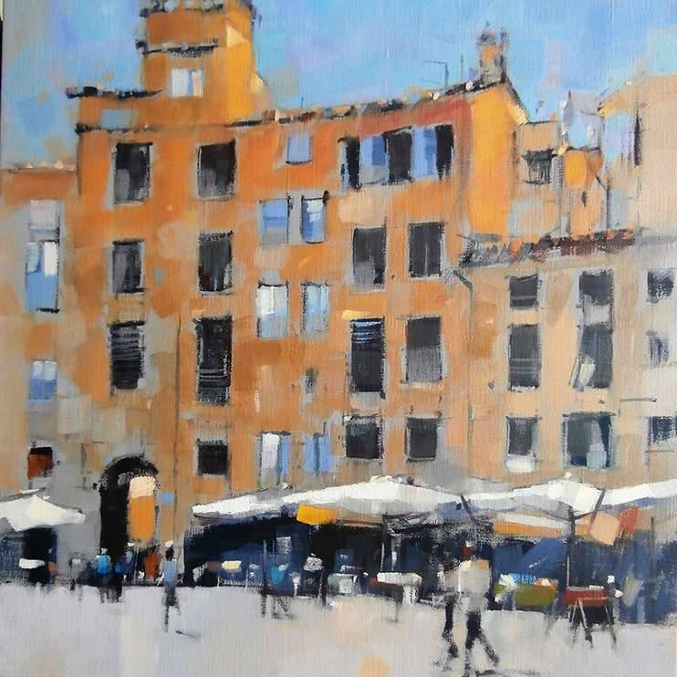 Peter Foyle - Early Evening Lucca Amphitheatre