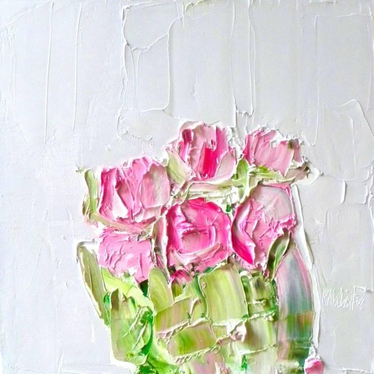 Alison McWhirter - Roses against Palest Lavender Grey