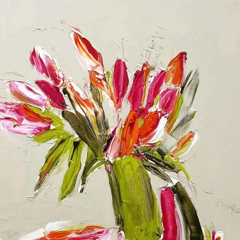 Cerise & Orange Lilies