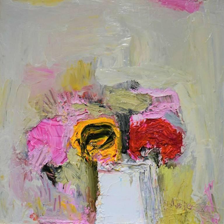 Sunflower, Superstar & Pink Peony Rose