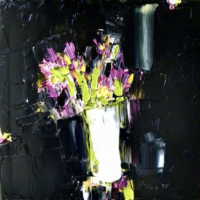 Iris Against Ink Black