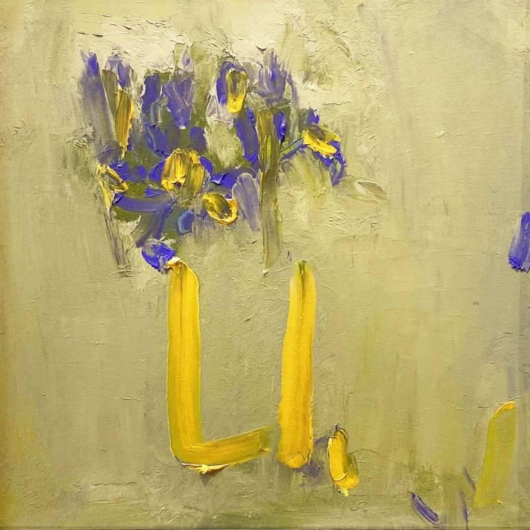 Iris In A Yellow Vase