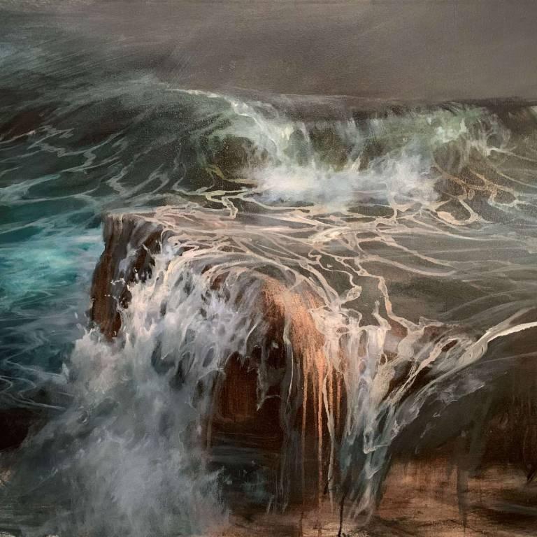 Beth Robertson Fiddes - Rock Shelf With Wave